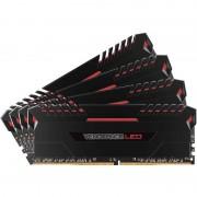 Memorie Corsair Vengeance LED Red 32GB DDR4 2666 MHz CL16 Quad Channel Kit