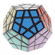 Qiji Cube velocidade lisa MegaMinx Cubos Mágicos Preta ABS