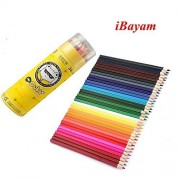 Bayam 36 Assorted Barreled Colors Wooden Colored Drawing Pencils For Secret Garden Coloring Books Adult Kid Student Drawing Pencils (36 Colors)
