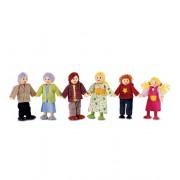 Hape Contemporary Dollhouse Doll Family Set of 7