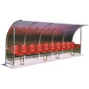 Panchina allenatori alluminio mt.3 h3638