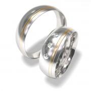 Luxusní Ocelové snubní prsteny 7022-1