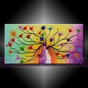 1 Quadro Arte Moderna Dipinto a Mano Vaso fiorito