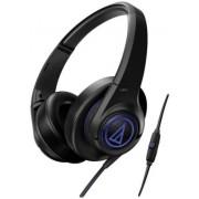 Casti cu Microfon Audio-Technica ATH-AX5iSBK (Negru)