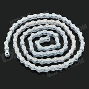 Replacement 96-Link High-Carbon Steel Bike Bicycle Single Speed Chain for Fixed Gear - White