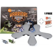 Viridia Vs. Bionika: Hex Bug Warriors Battle Stadium W/ Battling Robots + 1 Free Pack Of Official Hex Bug Power Cells (12 Cells) Bundle