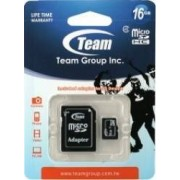 Card de Memorie Team Group microSDHC 16GB Clasa 4 + Adaptor SD