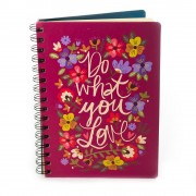 "Agenda ""Do what you love"" cu flori colorate"