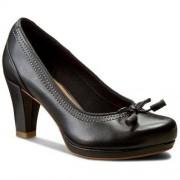 Clarks Półbuty CLARKS - Chorus Bombay 261243304 Black Leather