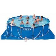 Intex vízforgatós medence 457x122cm Komplett szett. Prism Frame