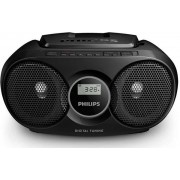 Micro Sistem Philips AZ215B, CD Player (Negru)