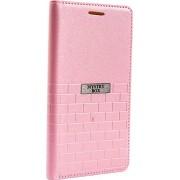 Purple Eyes Brick Faux Leather Flip Case for Lenovo S650 (Pink)