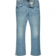 River Island Mens Mid Blue wash Clint bootcut jeans