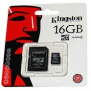 Карта памет Kingston 16 GB micro SD HC card Class 4+адаптор