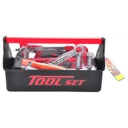 Children s Educational deluxe tool box from Little Treasures pretend play Open Toolbox with Tool Set for kids fixing handyman role play toy set
