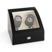 KLARSTEIN MATTERHORN навиваща витрина за часовници режим напред и назад 4 часовника черна ръчна изработка