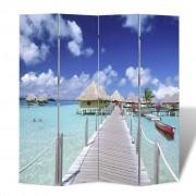 vidaXL Paravan s potlačou pláže, rozmery 160 x 180