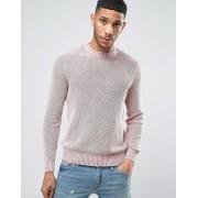 New Look Розовый джемпер в рубчик с эффектом кислотной стирки New Look