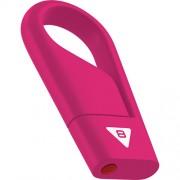 Stick USB 8GB Hook USB 2.0 D200 Roz EMTEC