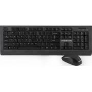 Kit tastatura cu mouse Wireless Modecom MC-6200G Negru