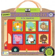 Innovative Kids Green Start Chunky Wooden Puzzles: Silly Squares Puzzle