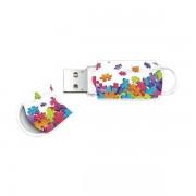Memorie USB Integral Xpression Puzzle Mix 8GB USB 2.0 White