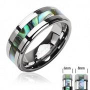 Tungsten gyűrű, kagylós minta középen