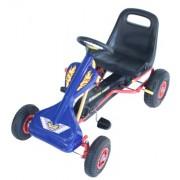 Júnior Max Kart Racing Robusto rojo y marco de acero amarillo - juguete pedal - niños gokart ...