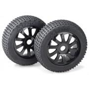 "Absima - set di ruote Buggy ""Razor"" 10 Raggi / Dirt nero 1: 8 (2) (2.520.015)"