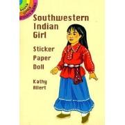 Southwestern Indian Girl Sticker Paper Doll by Kathy Allert