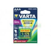 Akumulator AAA / R03 800mAh 1.0Wh NiMH 1.2V Varta Toy Ready2Use HHR-4EPT i HR-4U 56783101402