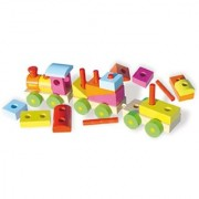 Vilac Push and Pull Baby Toy with Blocks Train Large