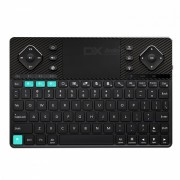 Rii K16 Dual-Mode Bluetooth y RF inalambrico retroiluminado teclado - Negro