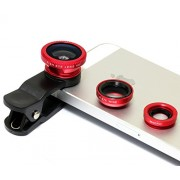 Asus Zenfone Selfie Compatible Ceritfied Professional Universal 3 in 1 Cell Phone Camera Lens Kit ( Assorted Colour )