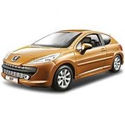 Bburago 2011 Star 1:24 Scale Metallic Copper Peugeot 207