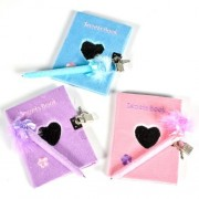 "Heart Diary with Pen, 5""x6"", Assorted Colors, 12 Each, Wholesale Lot Stdiary"