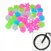 Round Colorful Glow-in-the-Dark ABS Bike Bicycle Wheel Spoke Beads Decoration - Multi-Color