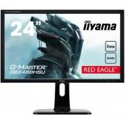 """Monitor Gaming TN LED iiyama 24"""" GB2488HSU-B2, Full HD (1920 x 1080), HDMI, DVI, DisplayPort, 1 ms, Boxe, Pivot (Negru)"""