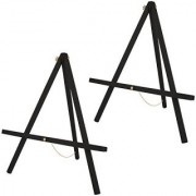 US Art Supply 20 inch Tall Tripod Easel-Pine Wood-Painted Black (Pack of 2 Easels)