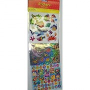 Sticker Medley ~ Combination of 3D Laser and Paper Stickers (Underwater Fun; 172 Stickers)
