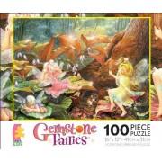"Gemstone Fairies ""Three Fairies"" 100 Piece Jigsaw Puzzle MADE IN USA PUZZLE by ceaco"