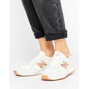 New Balance Бежевые кроссовки с золотисто-розовой отделкой New Balance 420 - Белый