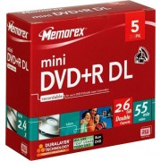 Mini DVD+R DL Dual Layer Memorex Blank 4x 2,6GB 8cm