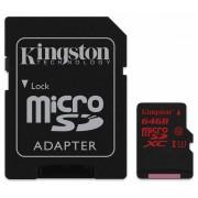 Kingston microSDXC 64GB (UHS-I U3) + adaptor (SDCA3/64GB)