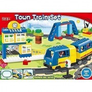 Motorized engine train set with sound Battery-Operated Lego Duplo Compatible (83 Pcs)