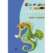 Animale acvatice. Poezii si ghicitori - Carte de colorat