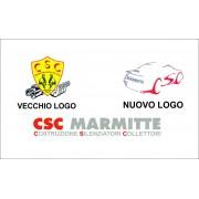 Adesivi CSC marmitte Logo e Scritta intera Stickers