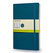 Moleskine Classic Colored Notebook, Large, Plain, Underwater Blue