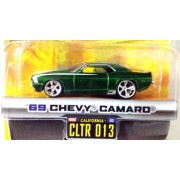 Dub City Big Time Muscle / 69 Chevy Camaro / Green W White Stripes / Cltr 013 / 1:64 Scale Die Cast Collectible / Jada Toys 2005