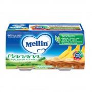 Mellin Omogeneizzati di frutta - Banana - Confezione da 200 g ℮ (2 vasetti x 100 g)
